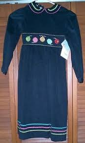 nwt vive la fete black dress with smocked ornaments and ric rac