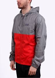 patagonia light and variable jacket patagonia light variable hooded jacket grey red