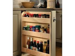 pull out kitchen storage ideas base pull out spice rack cabinet kitchen storage wood mode small