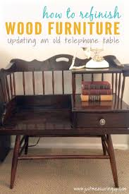 How To Repaint Wood Furniture by How To Refinish Wood Furniture Updating An Old Telephone Table