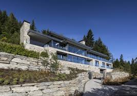Slope House House On Difficult Steep Slope Is Partly Dug Into The Hillside To