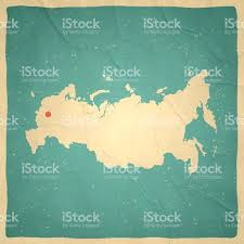 Moscow Russia Map Russia Map On Old Paper Vintage Texture Stock Vector Art 516646026