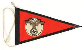 Germany Flag Ww2 Lot Detail 1939 1945 Ww2 German Nskk 7 U201dx12 U201d Car Pennant