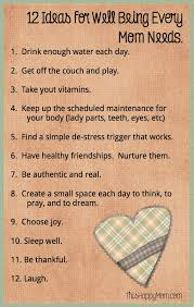 12 simple ideas for well being