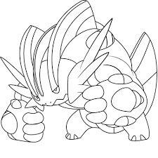 pokemon mega groudon coloring pages anime pictures coloring home