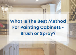 is it better to paint or spray kitchen cabinets what is the best way to paint cabinets spray painting or