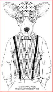 human animal coloring pages dog from oesmooth operator vitlt com