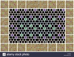 Moorish Design Moorish Geometric Design Wall Tiles Collage Stock Photo Royalty