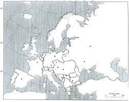 European Union Blank Map by History 464 Europe Since 1914 Unlv