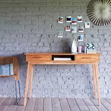 Kleine Schreibtische Aus Holz Schreibtisch Aus Akazie Oslo Tikamoon
