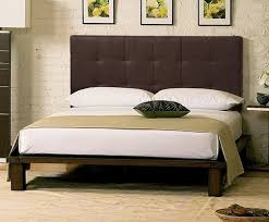 Platform Bed With Headboard Mesmerizing Solide Platform Bed Dark Chocolate Headboard Charles P