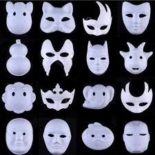 unpainted masks hot white unpainted mask plain blank version paper pulp mask