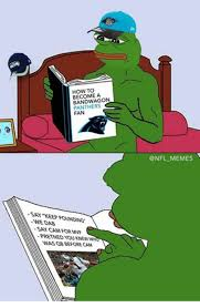 Nfl Bandwagon Memes - how to become a bandwagon panthers fan 상 say keep pounding wedab