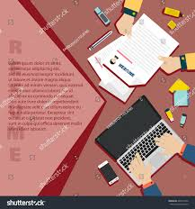 Job Interview Resume by Job Interview Business Resume On Red Stock Vector 446531842