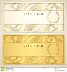 voucher gift certificate coupon template stock photography