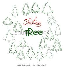 christmas white drawing outline tree stock images royalty free