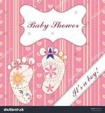 background banner feet baby shower stock illustration