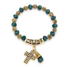 beaded bracelet with cross images Jesus cross bracelet for women vintage jesusgiftshop jpg