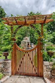 exterior design gorgeous garden design with wooden gates and