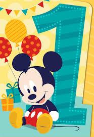 Mickey Mouse 1st Birthday Card Mickey Mouse Musical 1st Birthday Card Greeting Cards Hallmark