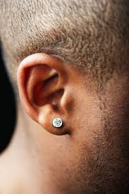 mens earrings uk 58 earrings uk mens black stainless steel large cz