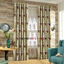 luxury curtains elegant room darkening floral jacquard beige buy