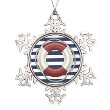 nautical christmas ornaments pewter lifesaver zazzle com