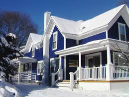 magnificent duplex house with blue exterior paint idea some latest