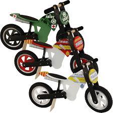 motocross push bike kiddimoto scrambler wooden balance no pedal running training