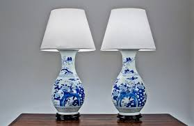 mesmerizing porcelain antique table lamp with turquoise body lamp