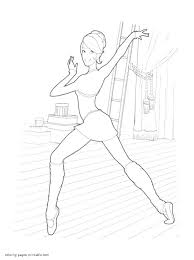 free barbie in the pink shoes coloring pages 2