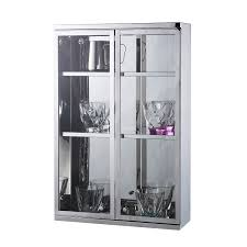 homcom wall mounted cabinet mirror storage large glass double