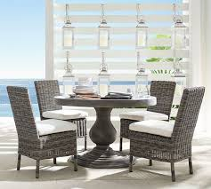 geneva concrete round dining table u0026 huntington dining chair set