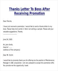 Resume Promotion Awesome Collection Of Sample Thank You Letter To Your Boss For