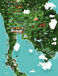 Map Of Thailand Maptitude U2014 A Stylized Map Of Thailand Source