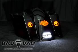 led lights for motorcycle for sale stretched saddlebags with flush mount taillights bad dad custom