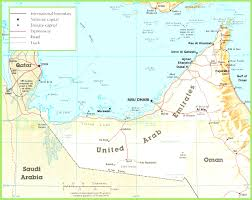 On The Map Uae Road Map Showing Different Cities And Town Of Uae Other