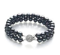 black pearl bracelet images Black freshwater pearl bracelet jpg