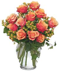 bouquet of roses coral sunset bouquet of roses flower shop network