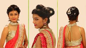 marriage bridal hairstyle indian bridal hairstyles step by step simple u0026 bridal bun