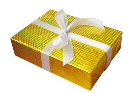 gold foil wrap gift box wrap and ribbon with gold foil wrapping paper and white