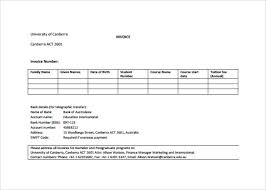 standard invoice templates example invoice template medical