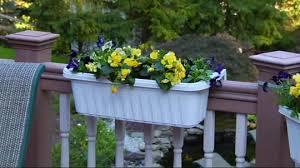 set of 2 large adjustable deck u0026 railing planters page 1 u2014 qvc com