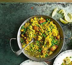 chicken chorizo paella recipe food