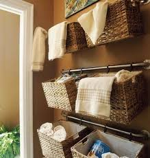 Towel Storage For Bathroom by Bathroom Design Ideas Using Mount Wall Dark Brown Wicker Towel