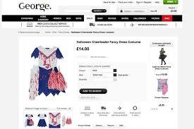Shop Halloween Costumes Mum Demands Asda Scrap Blood Stained Cheerleader Halloween