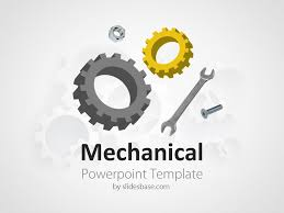 powerpoint themes free cars mechanical engineering gears cogs wrench powerpoint template slide1