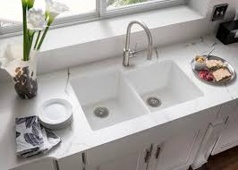 kitchen double granite elkay sinks with arched stainless steel