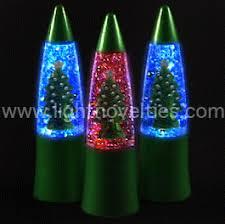 light up glitter lamp christmas tree rgb leds