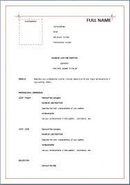 formal resume resume templates